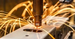 Industrial, automotive part spot welding in factory